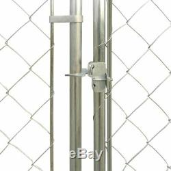 Outdoor Dog Kennel House Fence Pet Exercise Pen Cage Shade Shelter with Canopy Top