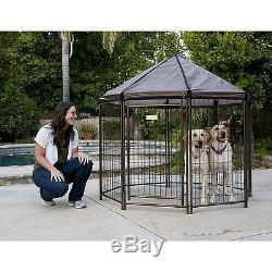 Outdoor Dog Kennel Large House Pen Cat Exercise Playpen Cover Shelter Pet Cage