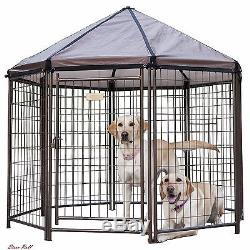Outdoor Dog Kennel Large Wire Exercise Pen Cage Enclosure Gazebo Patio Deck Yard