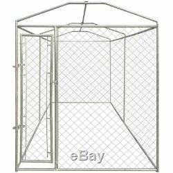 Outdoor Dog Kennel Pet Crate Enclosure Exercise Playpen Run Cage House withCover
