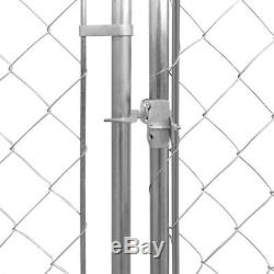 Outdoor Dog Kennel Pet Playing Cage Galvanized Steel Training Crate Exercise Pen