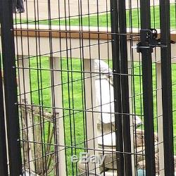 Outdoor Dog Kennel Welded Wire Exercise Pen Back Yard Porch Pet Cage Large Crate