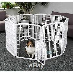 Outdoor Dog Pen Exercise Enclosure Pet Indoor Puppy Play Cage Portable Kennel