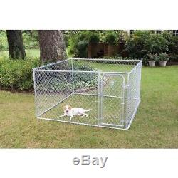 Outdoor Dog Run Kennel Chain Link Fence Pet Pen Exercise Enclosure Cage Outside