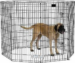 Outdoor Exercise Pen Dog Play House Indoor Pet Cage Crate Puppy Fence Playpen