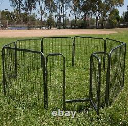 Outdoor Heavy Duty Metal Exercise Pen Fence Panels Small Dogs Indoor Puppies