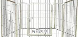 Outdoor Kennel Pen House Wire Enclosure Dog Pet Exercise Steel Cage Box Yard