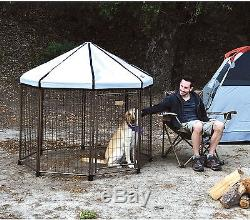 Outdoor Pet Kennel Portable Exercise Pen Collapsible Dog Fence Large 5 Feet