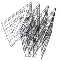 OxGord 42 Tall Wire Fence Pet Dog Folding Exercise Yard 8 Panel Metal Play-Pen