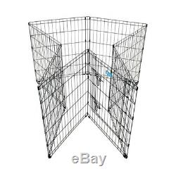PET EXERCISE PEN Cage Home Training Dog Puppy Cat Panel With Step Through Gate