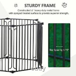 PawHut Dog Exercise Pen with Door & Cover for Small & Most Medium Sized Dogs