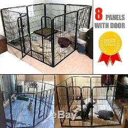 Pen Dog Kennel 32 Inch Height Exercise Large Playpen 8 Panel Gate Indoor Outdoor