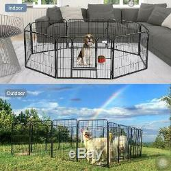 Pen Dog Kennel 32 Inch Tall Exercise Large Playpen 8 Panel Gate Indoor Outdoor