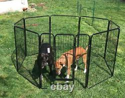 Pen Dog Kennel Extra Large 40 Inches Tall Exercise Playpen with Gate 8 Panel