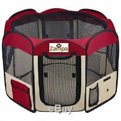 Perfect Pet Playpen Exercise Dog Cat Puppy Kennel Folding Portable Strong Sturdy