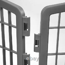 Pet Dog Exercise Play Pen Fence Indoor Outdoor Puppy Folding Training Enclosure