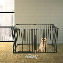 Pet Dog Playpen Foldable Pet Puppy Cat Exercise Barrier Fireplace Fence N5