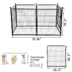 Pet Dog Playpen Play Yard Fold Portable Pet Puppy Cat Exercise Barrier Fence US