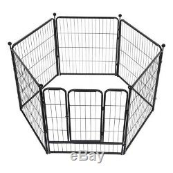Pet Dog Playpen Play Yard Foldable Portable Pet Puppy Cat Exercise Barrier Fence