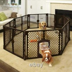 Pet Dog Playpen with Door 6 8 Panel 26 Inch Tall Exercise Pen Play Yard Cage Fence