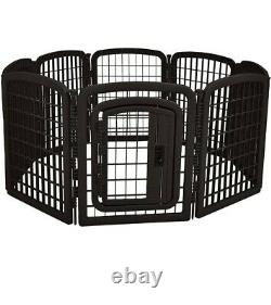 Pet Dog Playpen with Door 8 Panel 28 Inch Tall Exercise Pen Play Yard Cage Fence