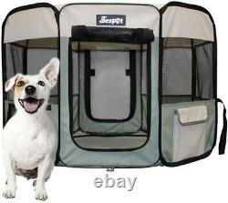 Pet Dog Playpens, 45inch, Portable Soft Dog Exercise Pen Kennel with Carry Bag f