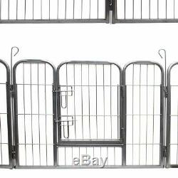 Pet Exercise Pen 32 Inches 8 Panels Dog Cage Outdoor Heavy Duty Folding Metal