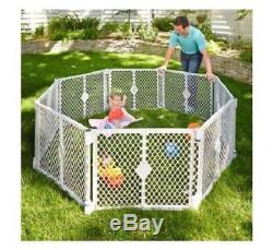 Pet Exercise Pen Dog Playpen Puppy Yard Big 8 Panel Wide Enclosure Gate Large