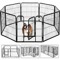 Pet Gate, Large Dog Kennel Puppy Playpen Dog Fence 24,32,40 Inch Exercise Pen
