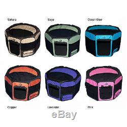Pet Pen Dog Play Exercise Fence Crate Puppy Kennel Cat Cage Folding Portable