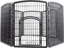 Pet Play Pen 34 Indoor Outdoor Exercise Plastic 8 Panel Dog Kennel Puppy Crate