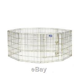 Pet Play Pen Exercise Fence Crate Cage Kennel Puppy Dog Cat Indoor Outdoor Panel