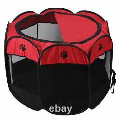 Pet Play Pen Portable Puppy Dog Cat Cage Durable Mesh Tent Exercise Play Supply