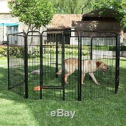 Pet Playpen 8 Panels Puppy Exercise Dog Fence, Indoor Outdoor Dual Protection