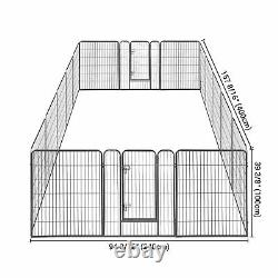 Pet Playpen Dog Exercise Barrier Fence Camping Crate House Cage 32x40 16 Panel