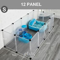 Pet Playpen Dog Exercise Pen Large Portable Dog Fence with Door 12 Panel K3C8