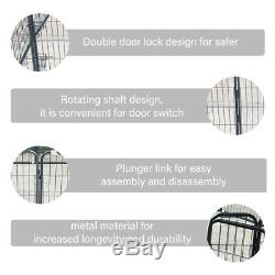 Pet Playpen Dog Exercise Pen Metal Portable Dog Fence 8 Panel for Dogs Pets T7E3