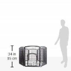 Pet Puppy Exercise Fence Play Pen In Outdoor Folding Dog Training Enclosure Cage