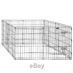 Pet Trex 24 Exercise Playpen for Dogs Eight 24 x 30 High Panels with Gate