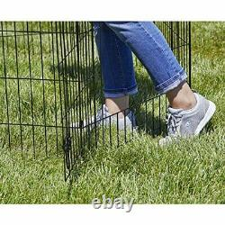 Pets Playpens Exercise Pen 8 Panel 30 Folding Portable with Door Anchor Dog