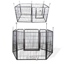 Play Pen Pet Cage Dog Cat Heavy Duty Kennel Barrier Fence Exercise Metal New