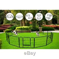 Portable 24 Metal Dog Pet Playpen Crate Animal Fence Exercise Cage WithDoor BT