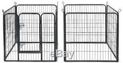 Portable Dog Kennel RV Camping Pet Exercise Play Pen Large Outdoor Crate Fence