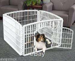 Portable Exercise Play Pen Pet Crate Cage Dog Kennel Puppy Fence Folding Large