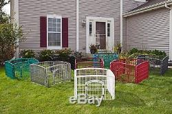 Portable Exercise Playpen Pet Crate Cage Dog Kennel Fence Folding Pens 24-Inch