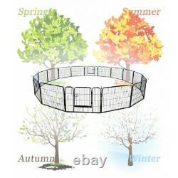 Portable Pet Playpen Puppy Dog Fences Gate 20H Indoor&Outdoor Fence Exercise US