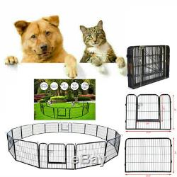 Portable Pet Playpen Puppy Dog Fences Gate Home Indoor Outdoor Fence Exercise US