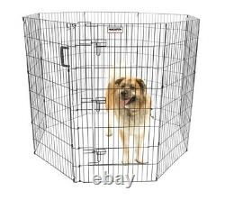 Precision Pet Exercise Pen Add Remove Panels Carry Handle Play Yard Dog Pen 48