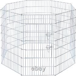 Prevue Pet Products 40142 Exercise Pen for Dogs, Silver