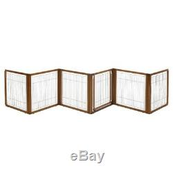 Richell 3-in-1 Convertible Elite Pet Gate 6-Panel Fences Exercise Pens Dog
